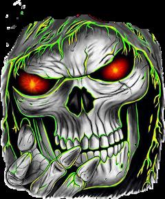 skull skeleton toxic zombie art freetoedit