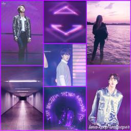 freetoedit jin bts kpop purple
