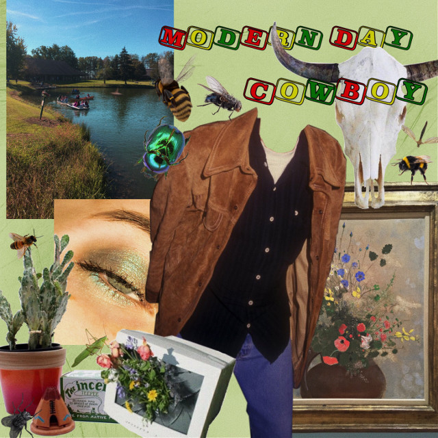 pictures credit to me. outfit credit to leondardo dicaprio. a #cowboy #moodboard