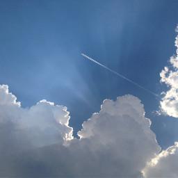 summer clouds blue white sunshine