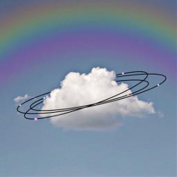 freetoedit cloud nature sky rainbow