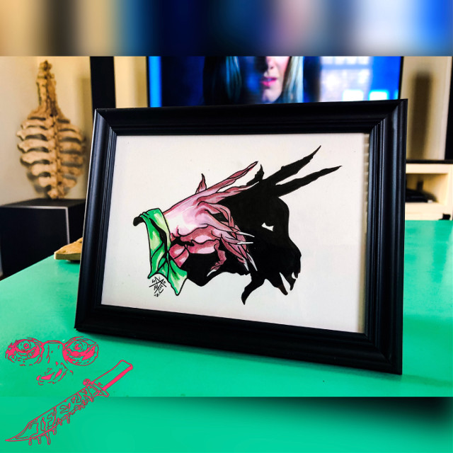 """Power of the GOAT"" 5"" x 7"" ink on bristol  Available  • • • #ifern #ifernsaves #nolaart #neworleans #darkart #lightheart #goat #baphomet #copic #copicmarkers #lefthandedpath #nogods #noidols #nochill"
