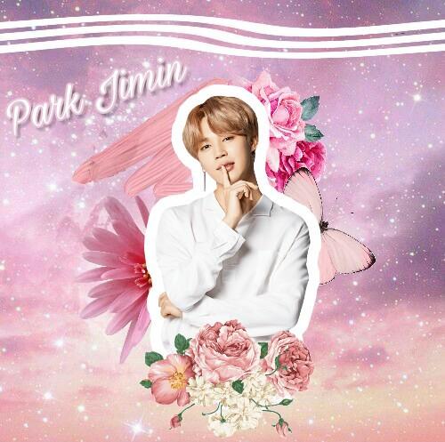 #jimin #cute #flower #pink #love