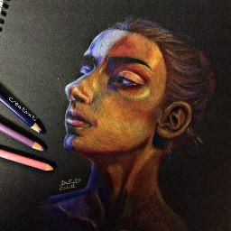 art drawing portrait experiment blackpaper