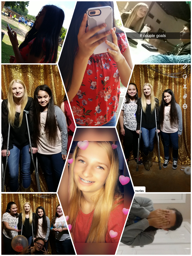 #freetoedit friends and boyfriend and me the blonde is me and brown is Jasmin the other girl cover her face with her hands Elia and yaztiri luz and mariza and Katelyn all my friends boyfriend sitting beside me Jeremiah