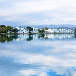 landscape lake reflection sky fostercity