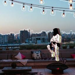 freetoedit glitch city aesthetic girl