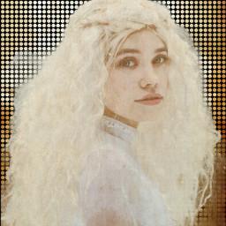 freetoedit vintage dottedeffect girl editedbyme