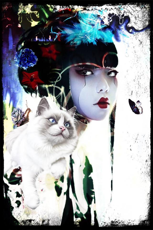 #freetoedit #geisha#meow 🐱💋🐾💔