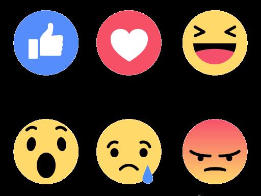 Facebook Icon Emoji Heart Like Social Instagram