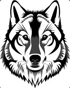 wolf vector freetoedit