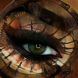 freetoedit eye steampunk gears screw