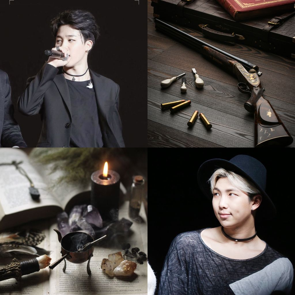 new moodboard for my witch hunter x witch Minjoon fic