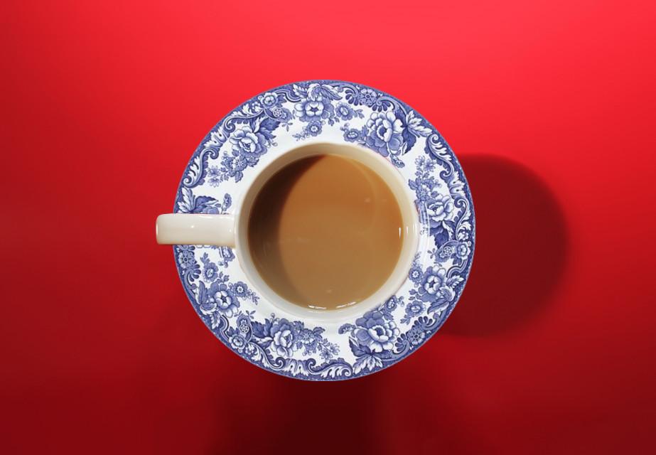 #freetoedit #remix #remixme #plate #coffee #coffeecup #red #blue #design #edit ☕️