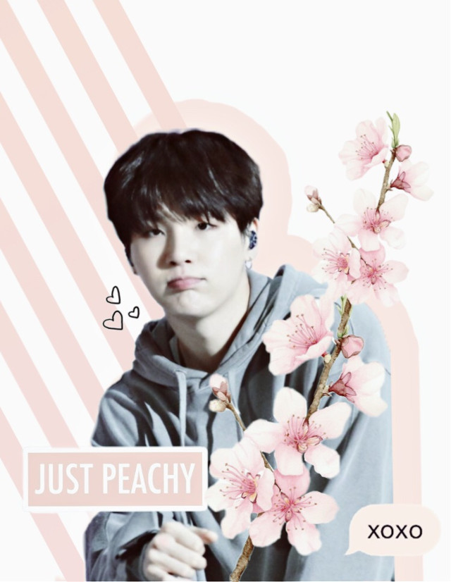 #freetoedit #yoongi #suga #agustd #cute #kwaiu #peach #pink #flowers #aesthetic #mood #bts #army #interesting #rock #cool