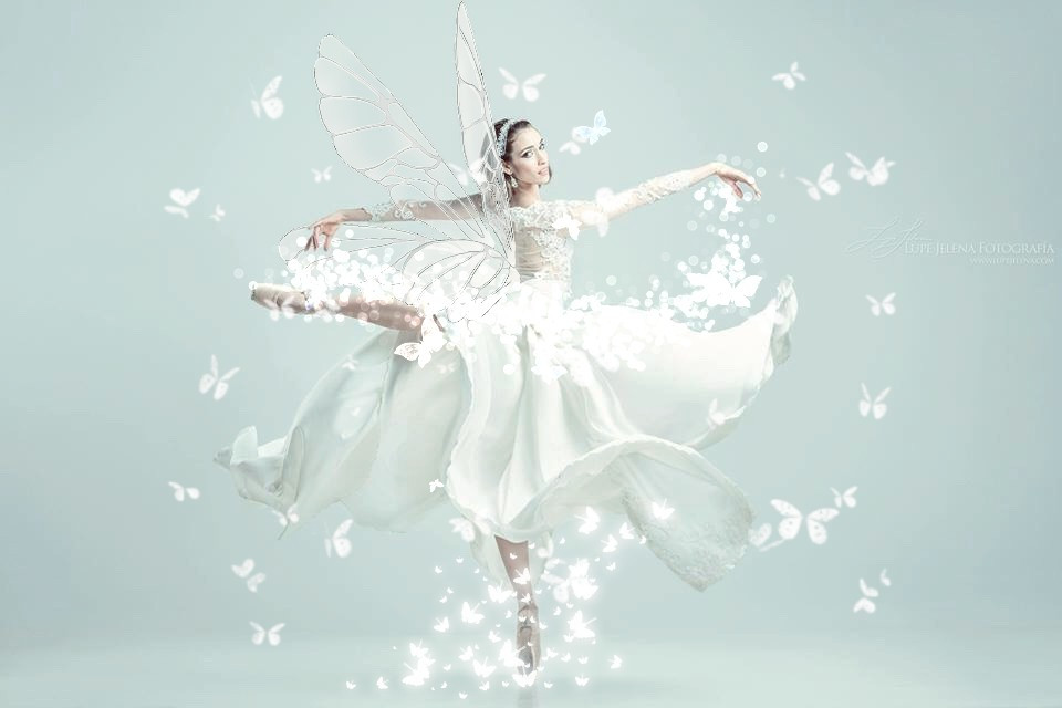 #freetoedit #white #girl #dancing #girldancer #butterflies #wings #feiry #whitebutterfly #whitebutterflies #whitedress