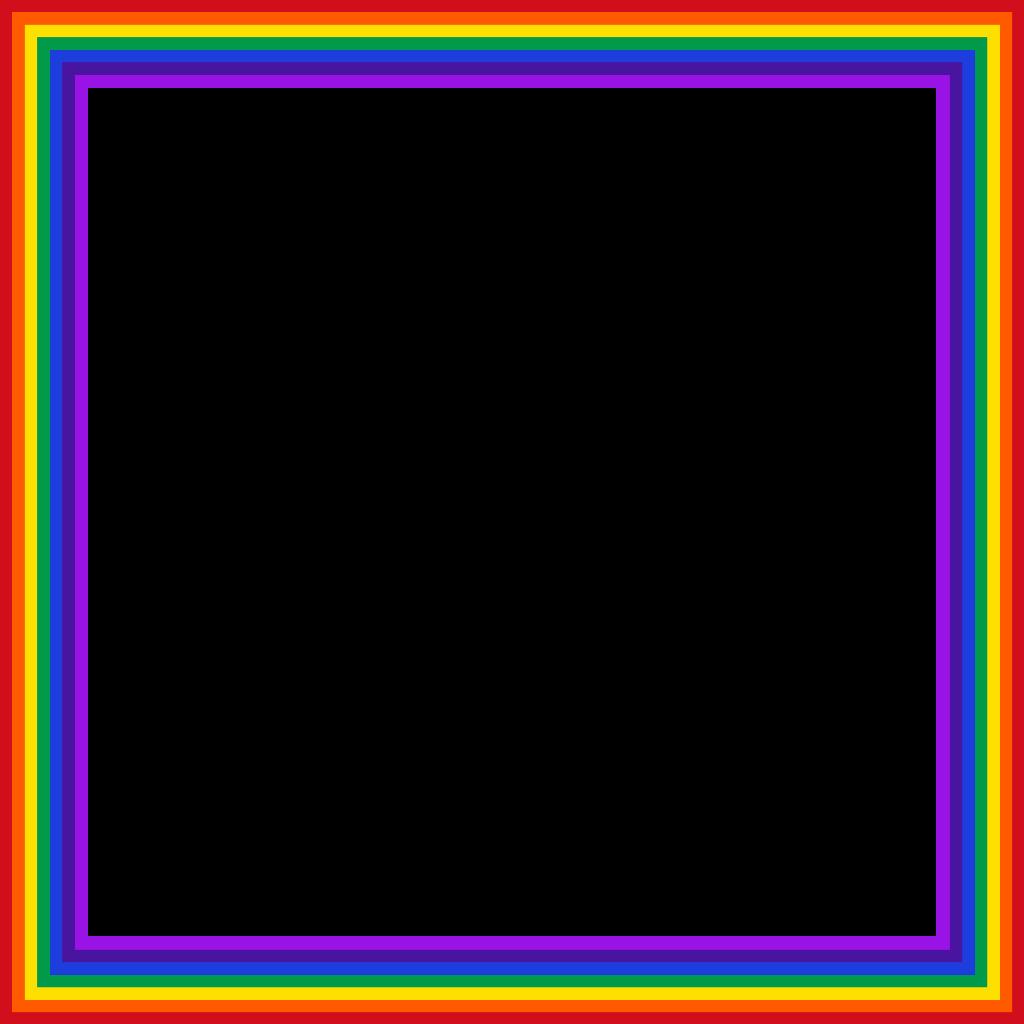 rainbow frame ftestickers freetoedit...