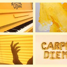 yellow coldplay aestethic me carpediem freetoedit