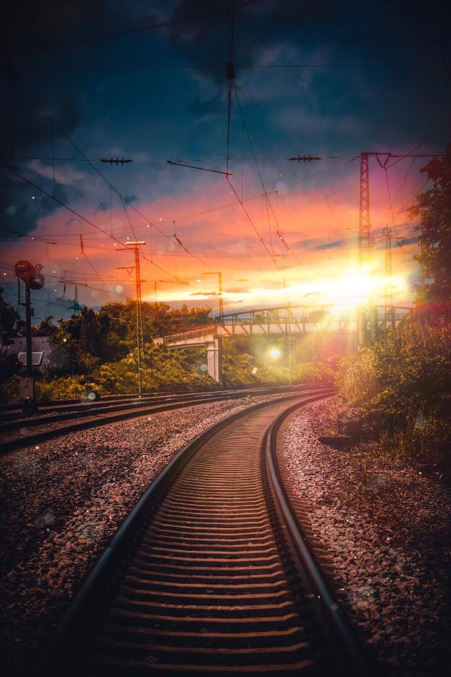 It's all about the way of life ✨  #freetoedit #interesting #art #nature #sky #summer #photography #train #travel #sunset #sunsetsky #sunsets #road #moody #moodygrams #instagram #visualsoflife #visualart #creative #creativeedit