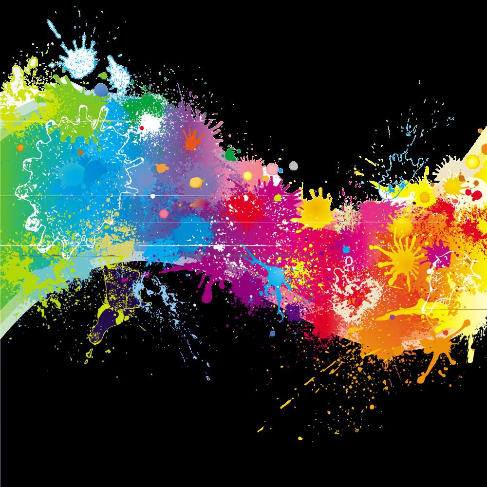 splatter paint paintsplatter rainbow colorful colors...