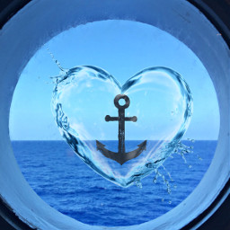 freetoedit anchor heart cruise waterheart
