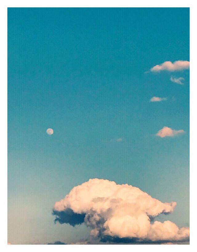 #freetoedit #skylovers #cloudsandsky #clouds #moon #bluesky #background