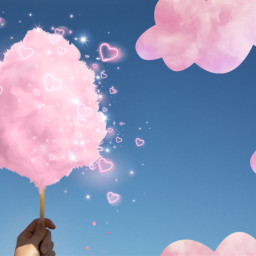 cottoncandy candy pink fluffy freetoedit