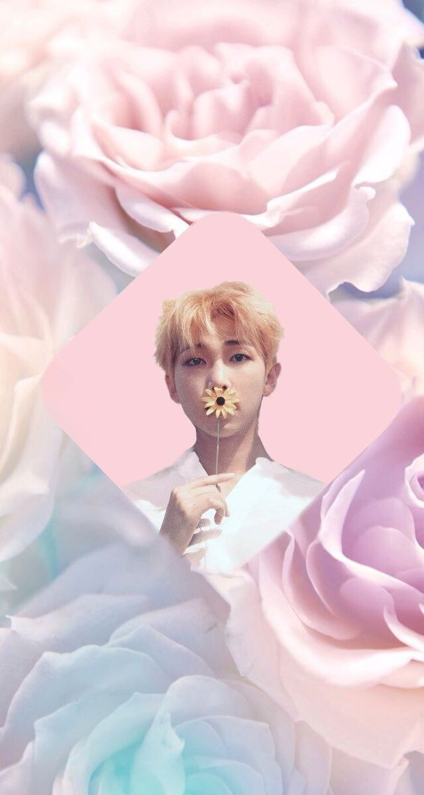 Freetoedit Bts Bts Rm Pastel Flower Wallpaper Kpop 5yea