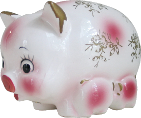 pig ceramic vintage retro filler