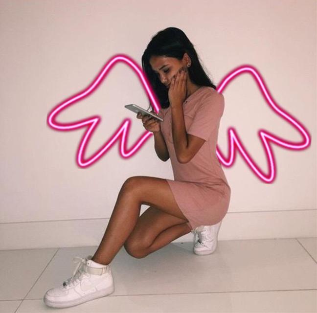 #freetoedit #pink#cute#girls#wings