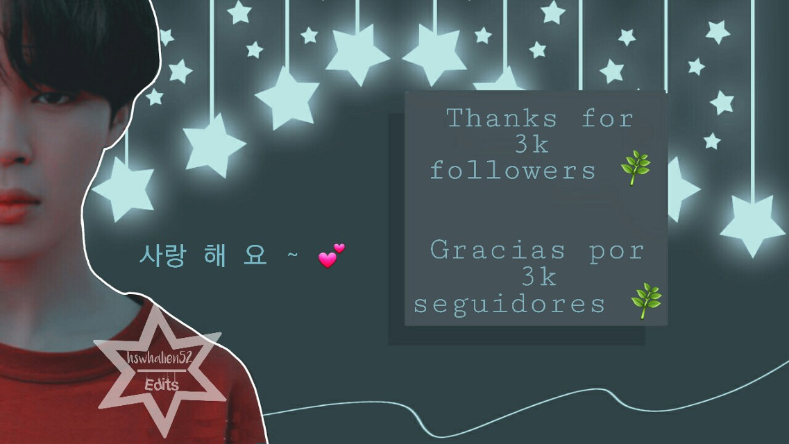 AHHH I'M CRYING 😭💕 Thank you so much for 3k followers!! 💕🎉   I am very grateful for your support and love that my editions receive 💚   I just got up and I'm more asleep than writing this right 😂😂