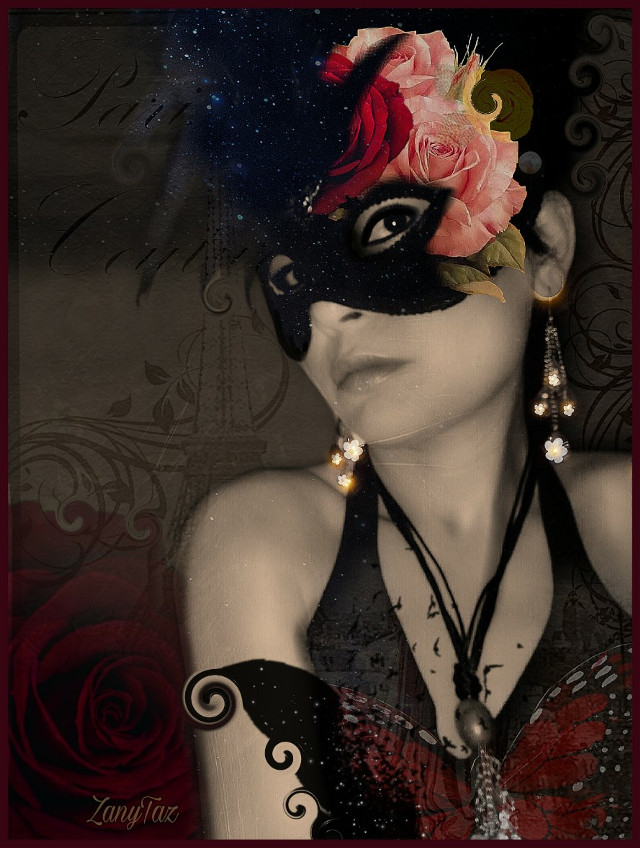 An #artistic piece for me 🍃 #masked #woman is @sevcanss1905 #freetoedit image. Thank you.
