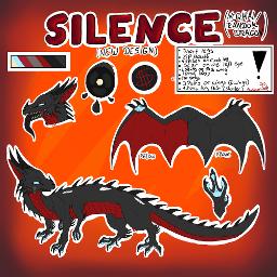 silencethetrippledragon foxypaintsocs silence dragon noodledragon