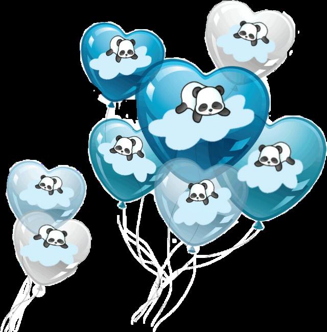 #balloons #pandas