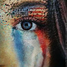 freetoedit america americanflag remixofremix glittereye ecflagoverlay