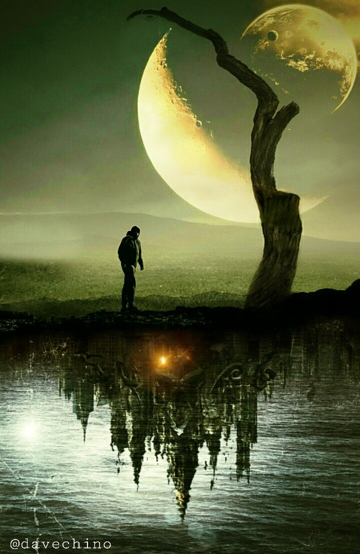 #vipshoutout #upsidedown #nature #landscape #halfmoon #moon #people #walkingalone #night #castle @freetoedit @picsart #myart #myedit