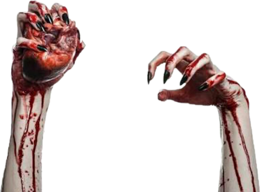 ftestickers bloody hands heart darkness creepy