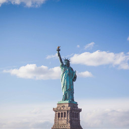 freetoedit liberty statue nyc sky