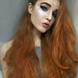 unicornselfie makeup fantasy redhair longhair