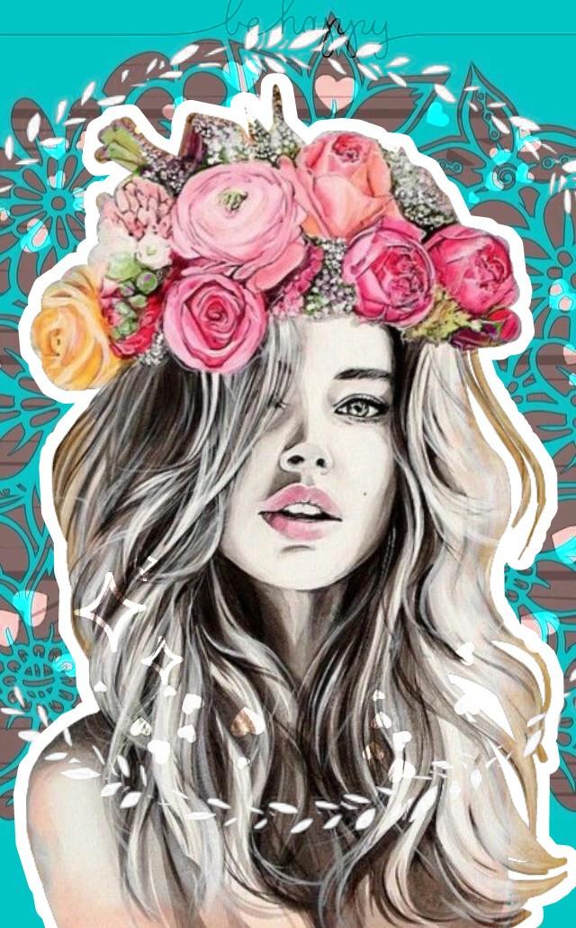 #freetoedit #flores #coronadeflores👸 💐🌸🌹🌼🌷👧