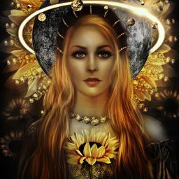 freetoedit orbithalo artemis goddess sun srcorbitselfie