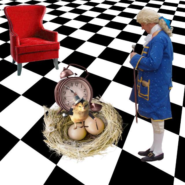 #freetoedit #surreal #egg #nest #chick