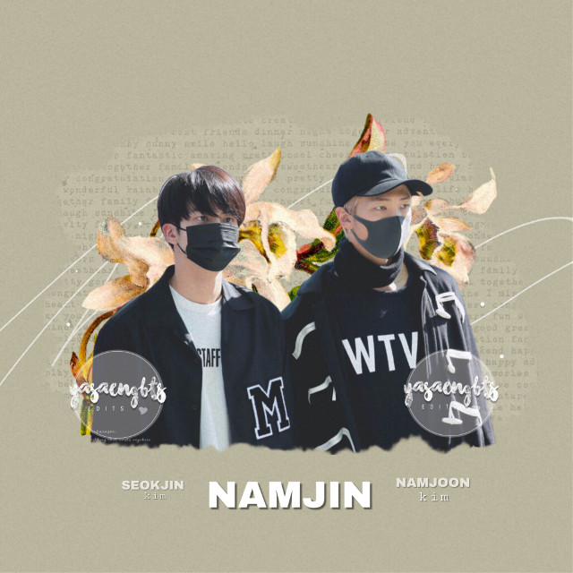 new video: https://youtu.be/D4bHTEhefWU   — edit for @jimimimochi_army   • i pick namjin to compare you and me to because they are a lovely pair. you are seokjin and i am namjoon. am i at least close to this comparison? if not then, i am going to chew on rocks. 😂    ─┈─ #namjin #kimnamjoon #kimseokjin #namjoon #seokjin  #bts #rm #jin #flower #icon #cute #bangtanboys #kpop ─┈─