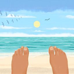 dcbeachday beachday feet freetoedit