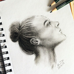 art drawing graphite charcoal fineliner