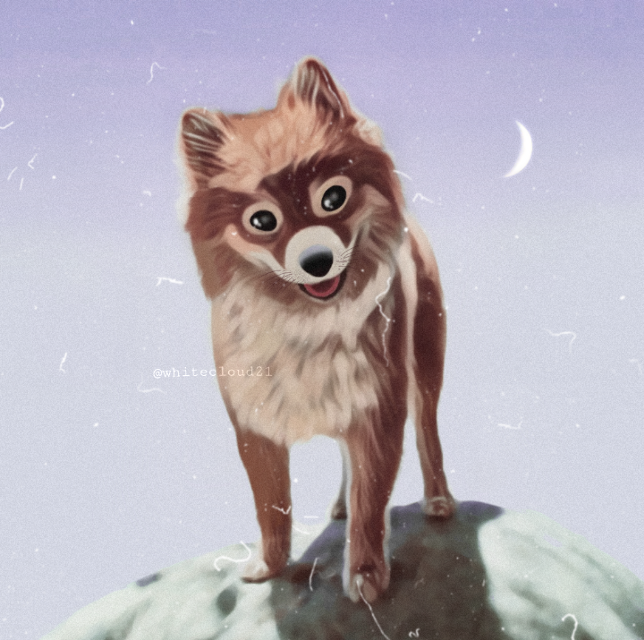🌙🐕🌠 #myedit #dog #cute #madewithpicsart #mydrawing #magiceffects #moon #petsandanimals #lilac (This is not completely a drawing, I also used some effects) @picsart  #remixed from @mysweetshinobu