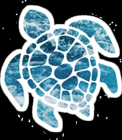 Turtle Ocean Beach Summer Aesthetic Tumblr Sticker Blue