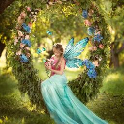 girl dress lightgreen flowers garden freetoedit