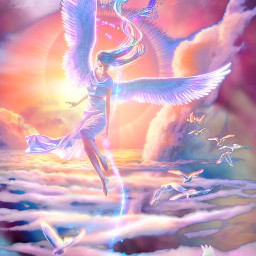 freetoedit fantasyart angel ethereal surreal beautiful artistic adjusttools layersonlayers stickers myedit madewithpicsart
