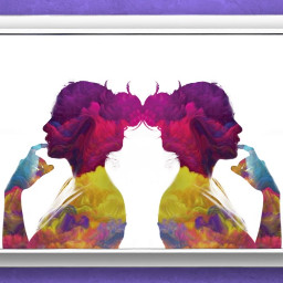 freetoedit twins colorful framedpicture framed